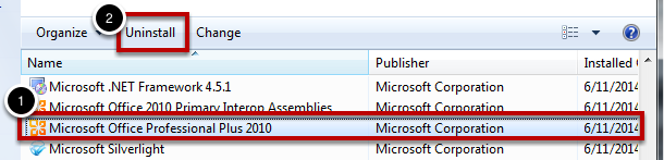 Uninstall old versions of Microsoft Office
