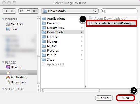 In the Resulting Window, Find the Image You Wish to Burn Onto a Disk