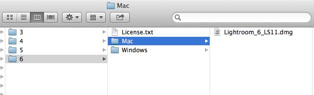Connect to smb://software.oc.edu/dist/Adobe/Lightroom/6/Mac