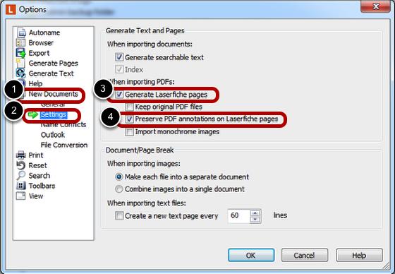 Set PDF Settings
