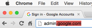 Sign in to your Google Admin Console