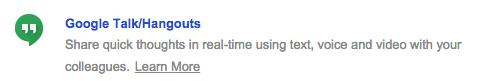 """Click on """"Google Talk/Hangouts"""""""