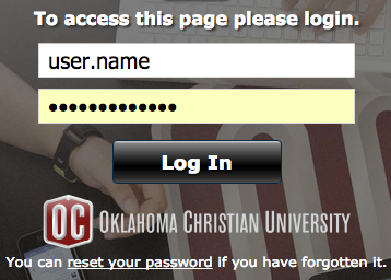 Login to your OC Email using your OC username and password