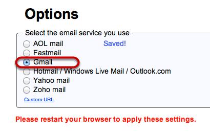 "Click ""Gmail"""