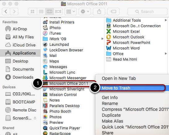 "Delete ""Microsoft Office 2011"""