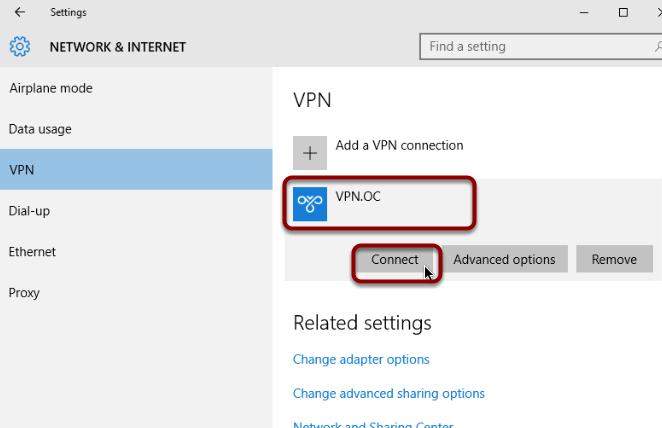 how to create vpn win 10
