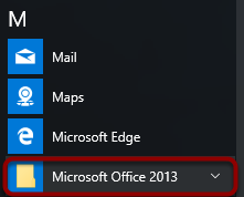 "Scroll down to the ""M"" section for ""Microsoft Office"""