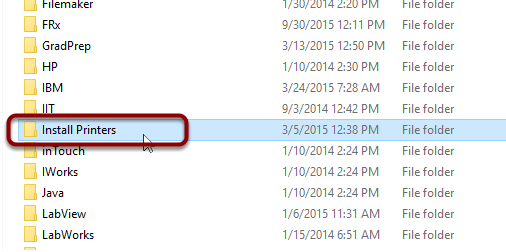 """Double-click """"Install Printers"""""""
