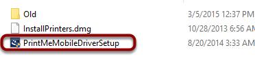 "Double-click ""PrintMeMobileDriverSetup"""