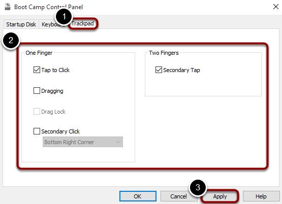 Adjust your trackpad settings