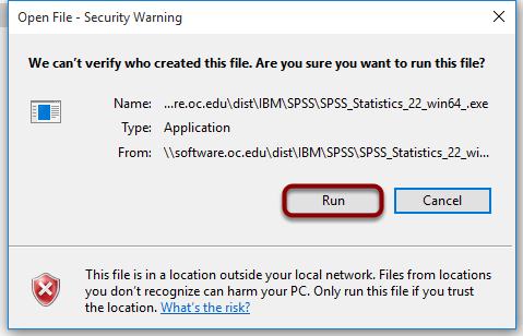 "Click ""Run"""