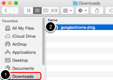 Open the Google Chrome Install file