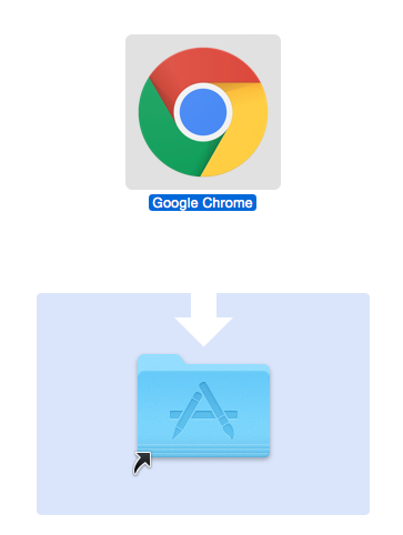 Click and hold the Google Chrome Icon in the new window