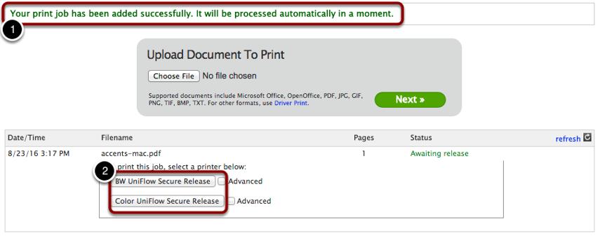 Select your Printer