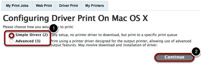 Configure Print Driver