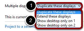 Choose how you want to configure your displays
