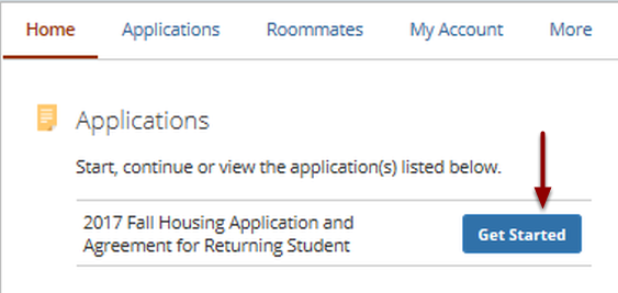 2. Find Your Housing Application