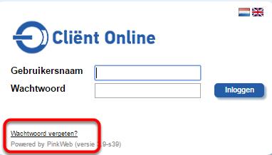 Surf naar het inlogscherm via https://www.clientonline.nl of via de website van je eigen kantoor