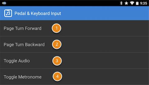 Pedal, Keyboard Settings