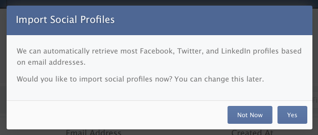 Auto-Importing Social Profiles