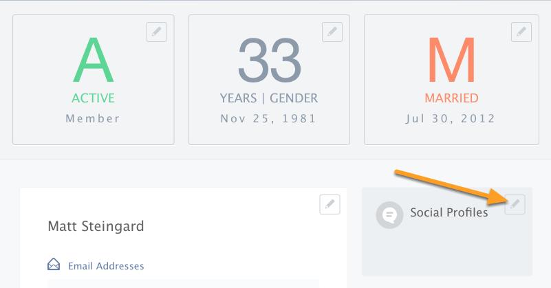 Adding Social Profiles
