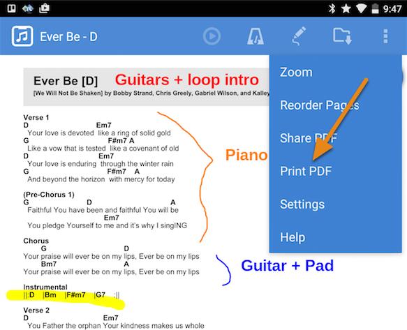 "2. Choose ""Print PDF"" from the PDF options menu"