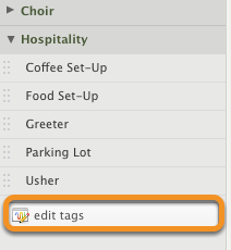 To add tags, click 'edit tags'.