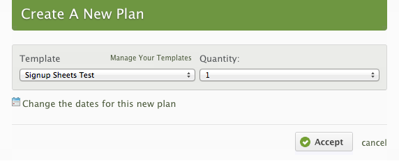 Add at least 1 new regular plan.