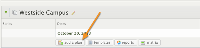 Click on the 'add a plan' button under the service type you would like to create plans for.