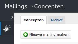Nieuwe mailing toevoegen