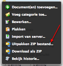 ZIP bestand uploaden
