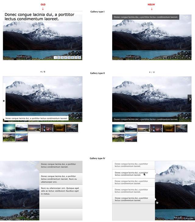 Standaard weergave Fotocollecties aangepast