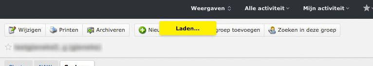 'Laden...' indicatie