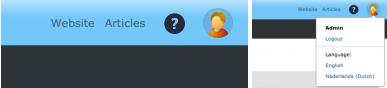 Profielweergave ingelogde gebruiker