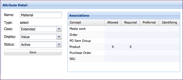 Edit Associations Settings