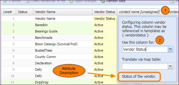 Assign Header Attributes