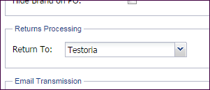 Returns Processing Settings