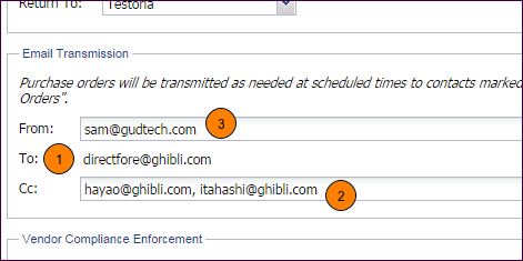 Email Transmission Settings