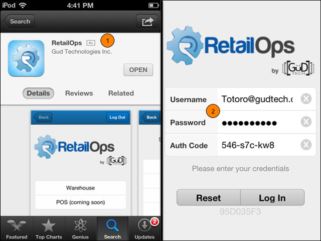 Install the RetailOps App and Log In