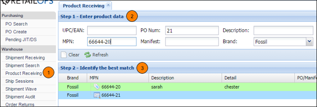 Find the Best Match from the PO