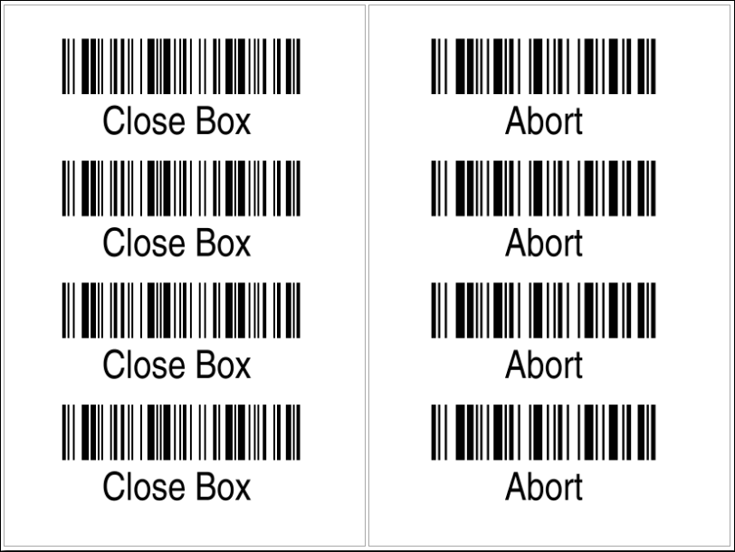 Sample Command Barcodes