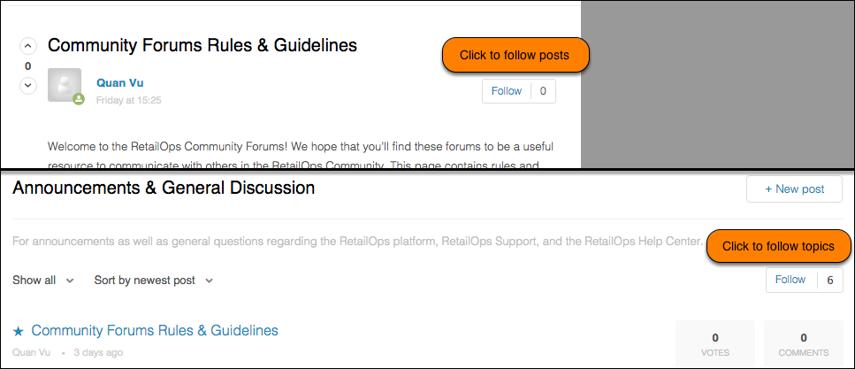 Follow Forum Posts and Forum Topics