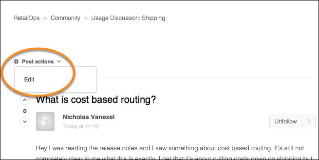 Edit Existing Forum Posts