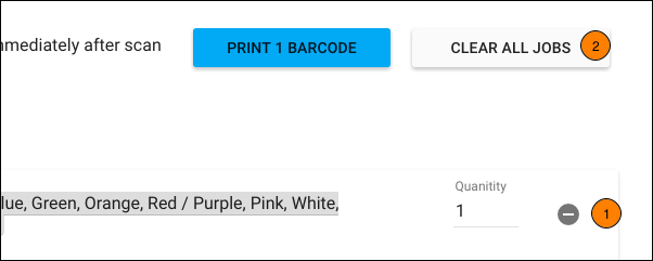 Remove Items from the Print Queue