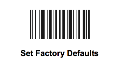 1. Set Factory Defaults