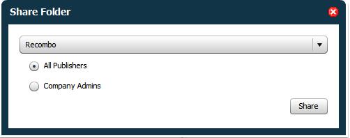 Sharing User-Created Folders