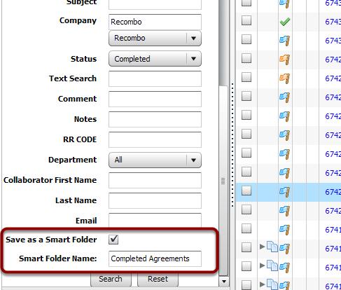 Creating a Smart Folder