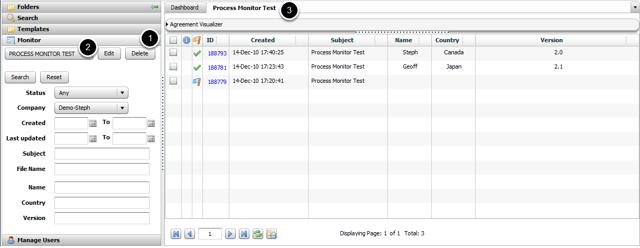 Viewing a Process Monitor