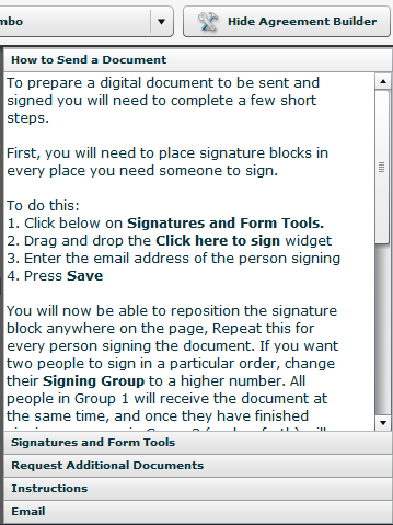 Overview Of Sending An Agreement Agreement Express Support