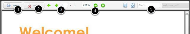 Agreement toolbar